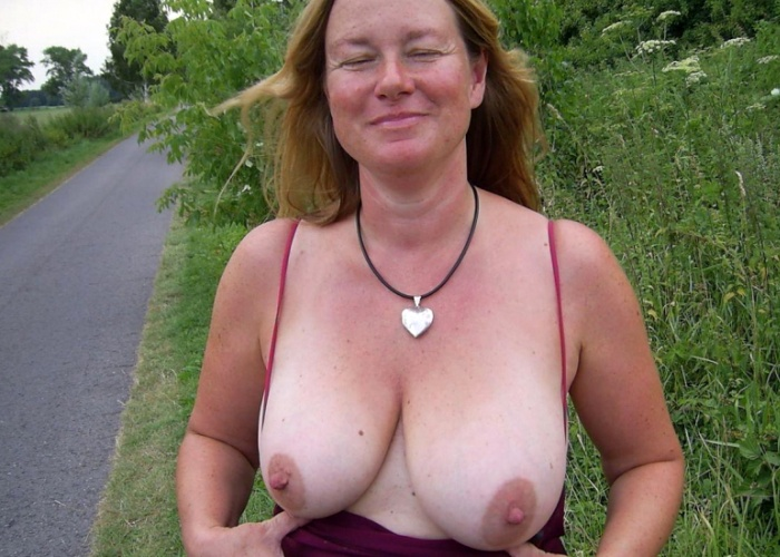 Mature wife flashing